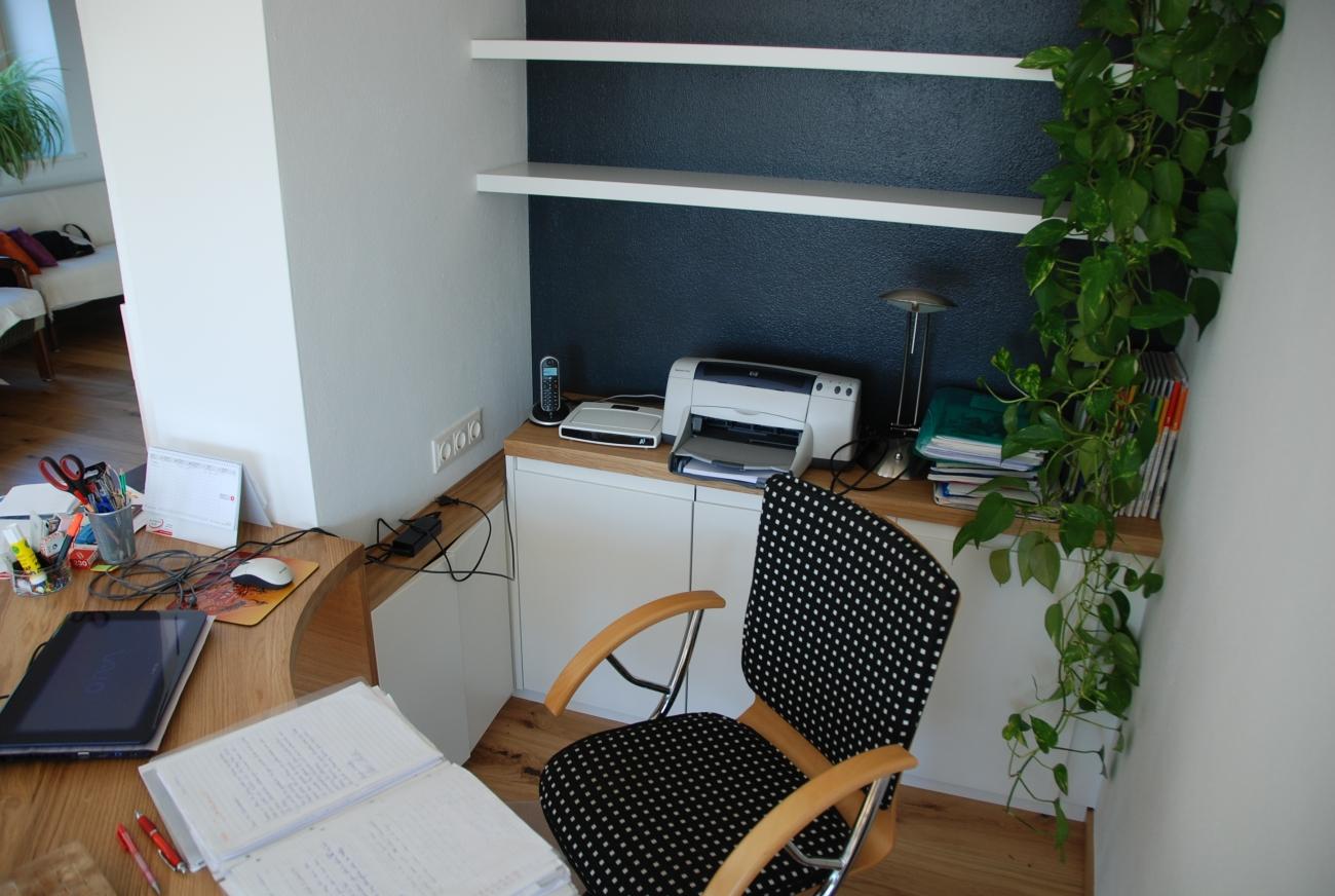 büro small | bücherwand in anthrazit
