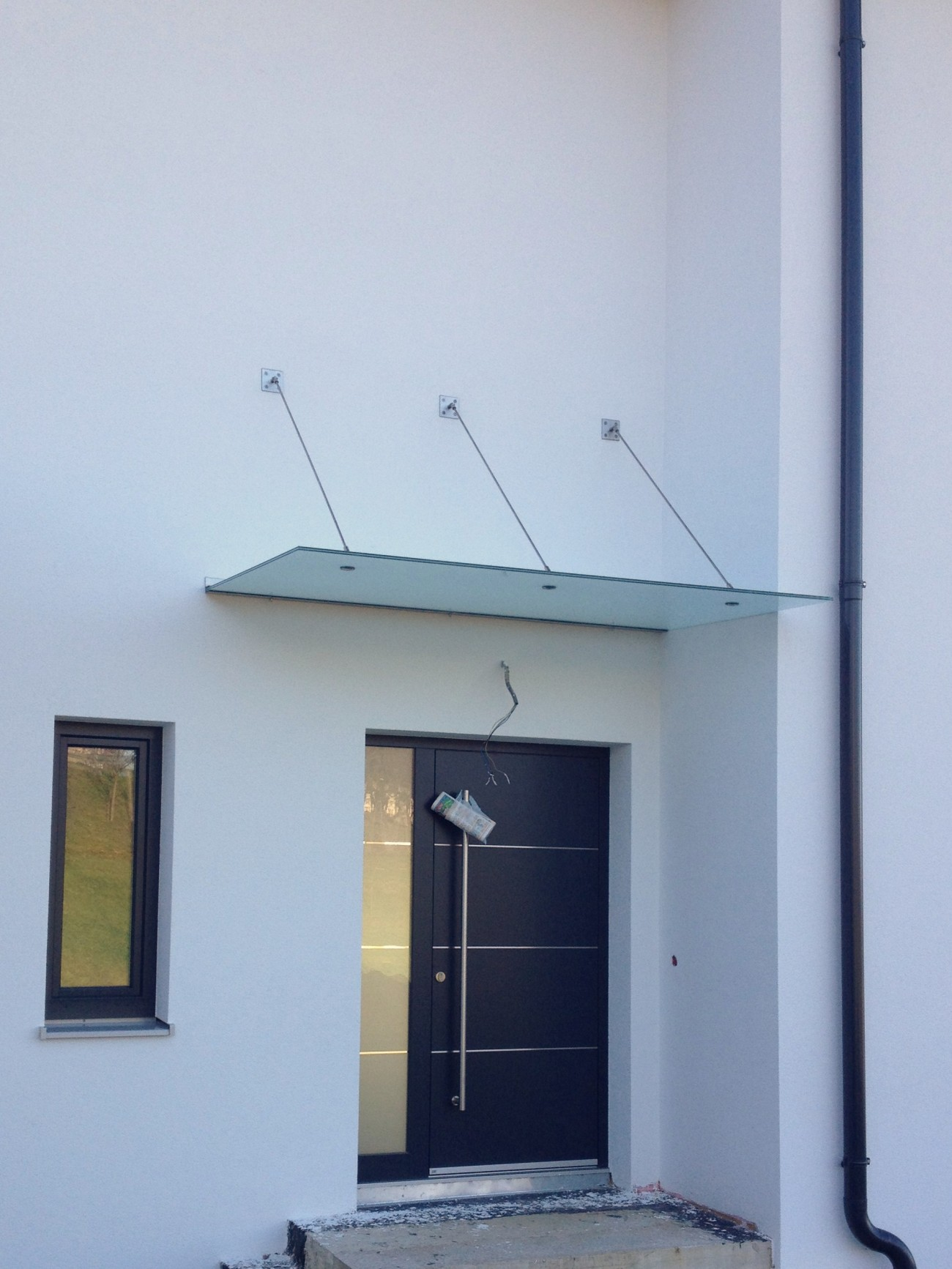 glasdach | in Sicherheitsglas TVG/ESG | abhängung in edelstahl