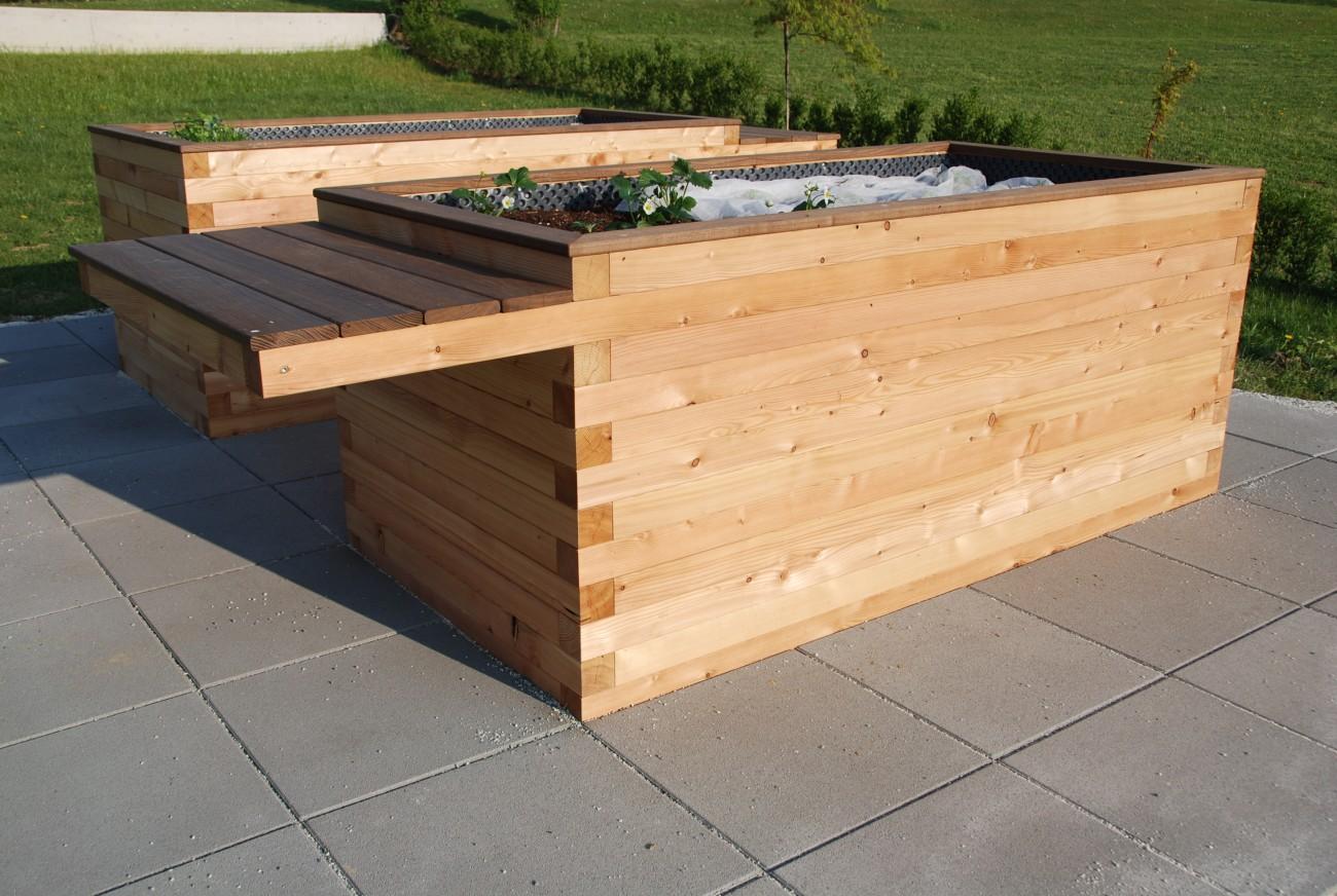 Garten | hochbeet | gehobelte lärche