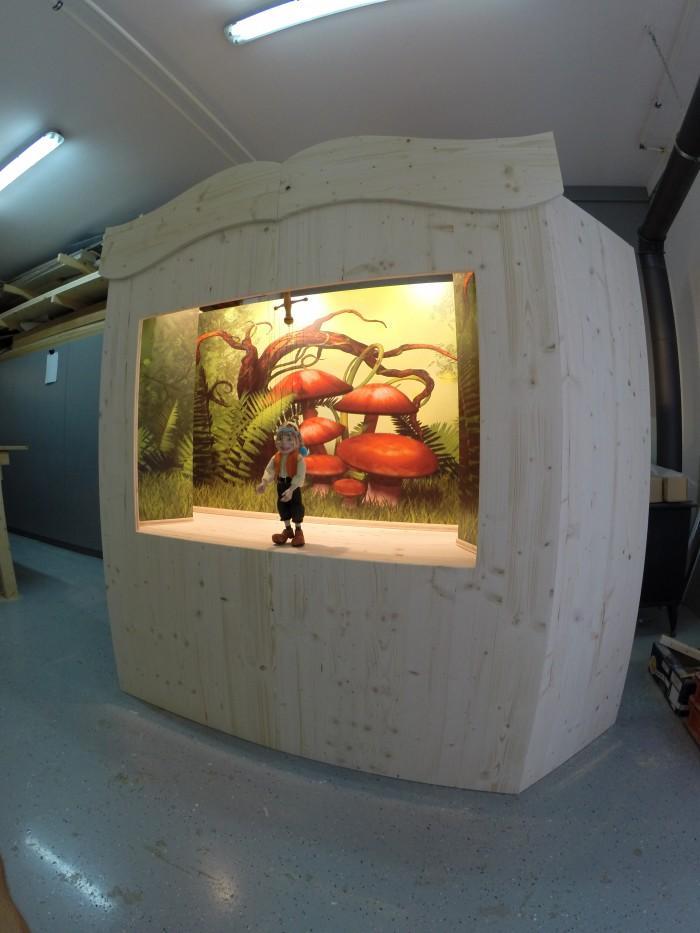 marionettentheater | stecksystem | mit verschiebbaren Kulissen und Beleuchtung