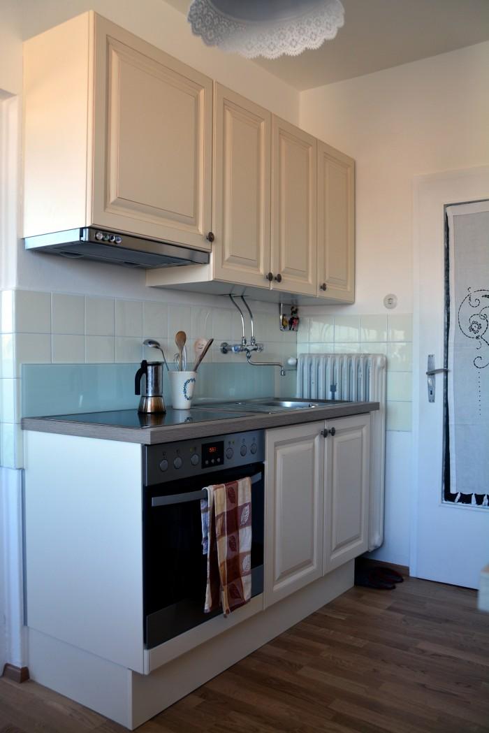 landhausküche | parkettboden eiche astig