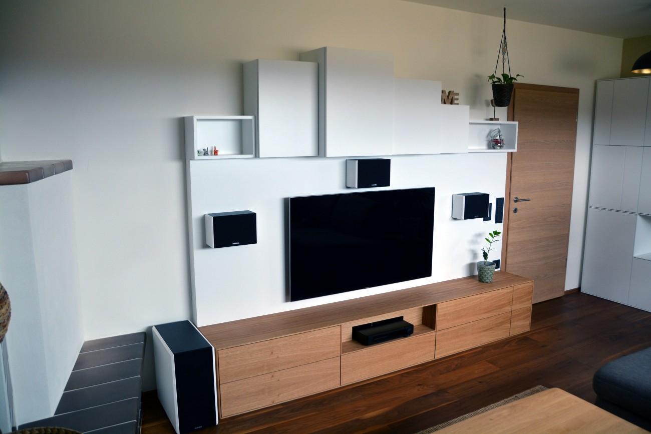 wohnzimmer | eiche, weiß 9016 | integrierte dolby surround anlage ... - Wohnzimmer Eiche Weis