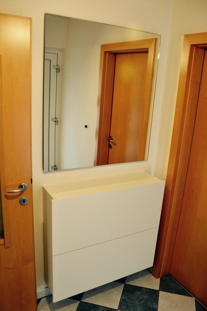 garderobe | eiche astig | weiß matt