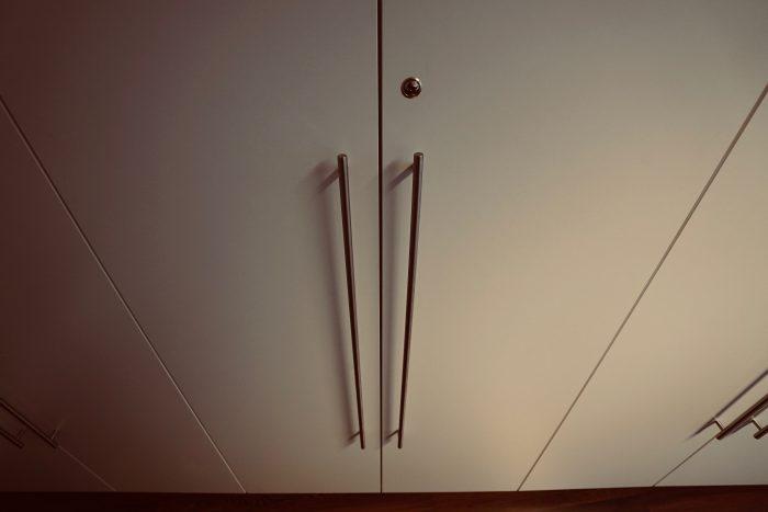 Büroschrank | weiss matt | versperrbar mit Zylinderschloss