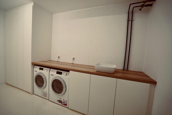 waschküche | weiss matt | grifflos