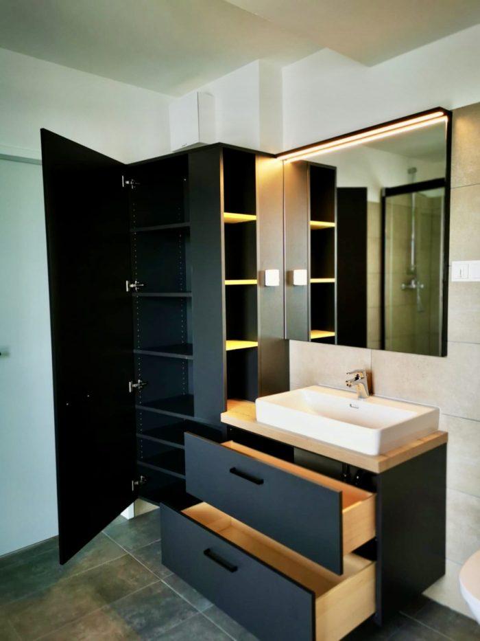 badezimmer | anthrazit | massiv holz innenladen